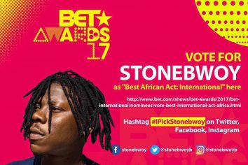 Stonebwoy nominated again for BET Awards 2017