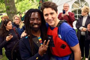 Rocky Dawuni meets Prime Minister of Canada Justin Trudeau
