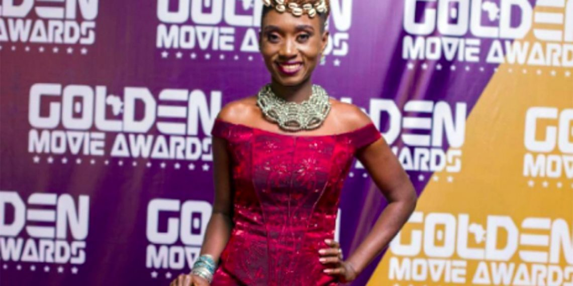 NanaYaa's 'Ghana Jollof' slang in 'Mad Over You' cover became AY's comedy topic at Golden Movie Awards