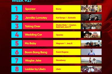 Week #27: Ghana Music Top 10 Countdown