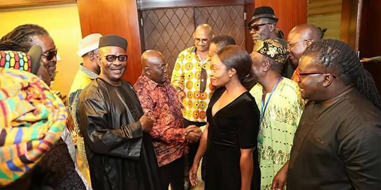 President Akufo Addo pays tribute to the late Paapa Yankson