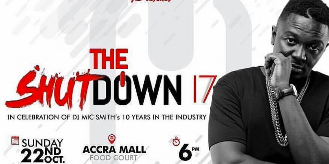 Dj Mic Smith to shutdown Accra with the biggest DJ Concert In Ghana